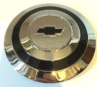chevrolet chevy wire wheel type chrome hubcap 6.5