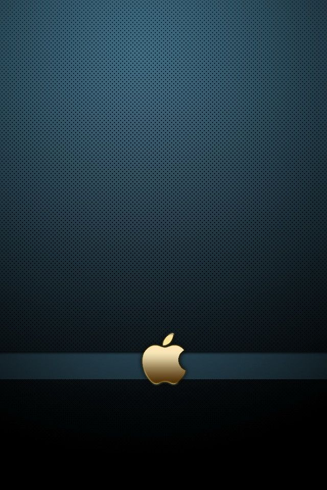 Gold Apple Logo With Blue Background Free Iphone Wallpapers Iphone Wallpaper Logo Apple Iphone Wallpaper Hd Apple Logo Wallpaper Iphone Apple hd wallpaper iphone plus