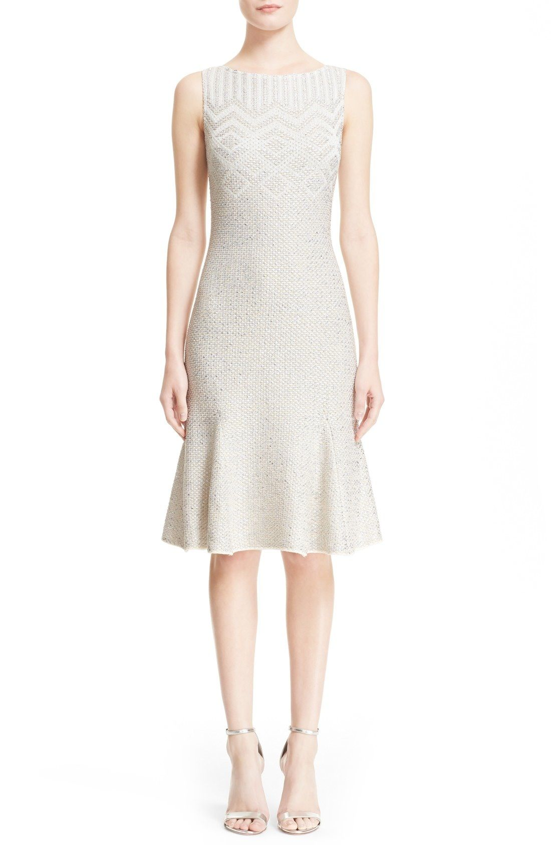 St. John Collection 'Adara' Flared Knit Dress available at #Nordstrom