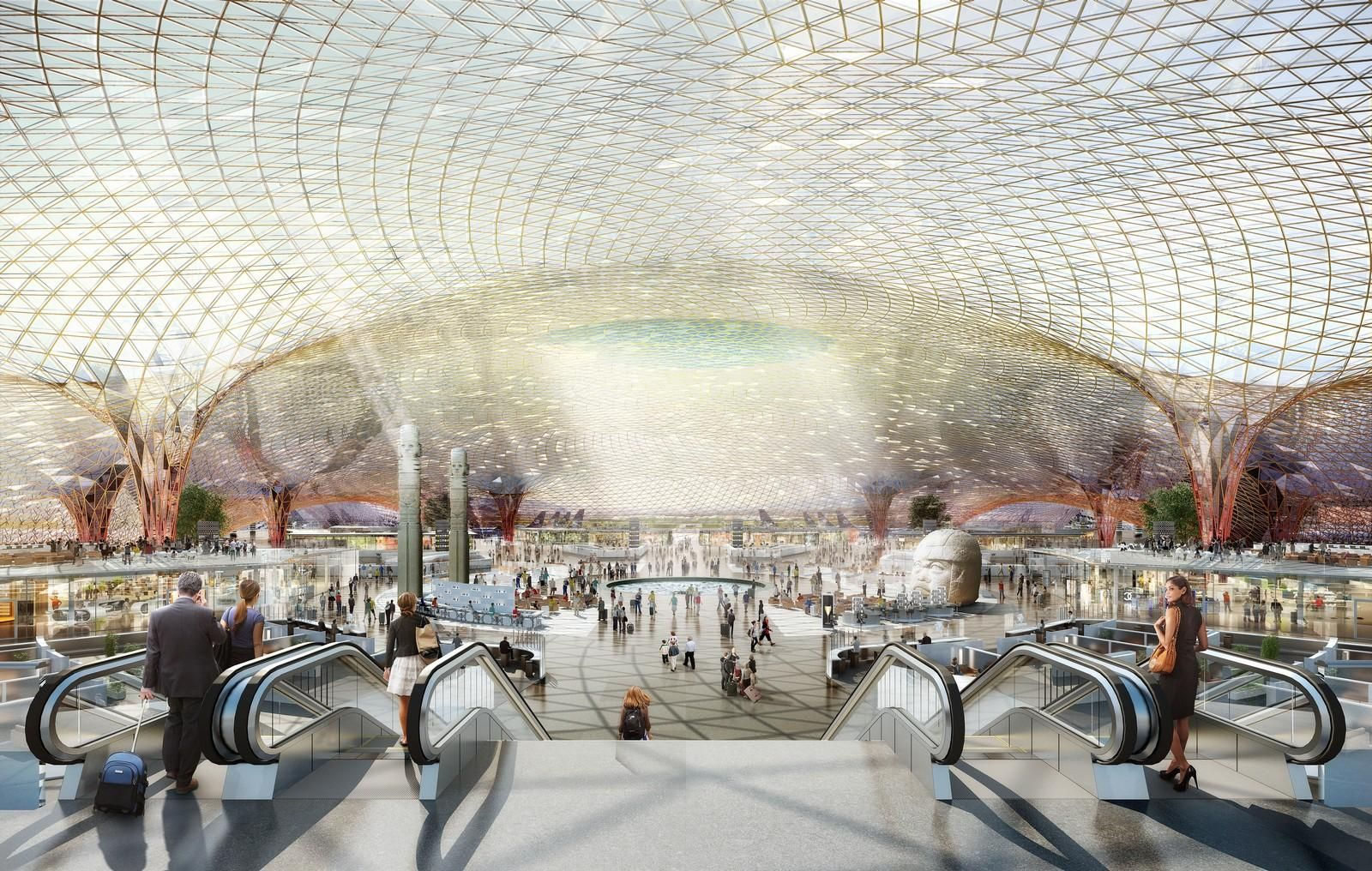 Foster Partners Project New International Airport For Mexico