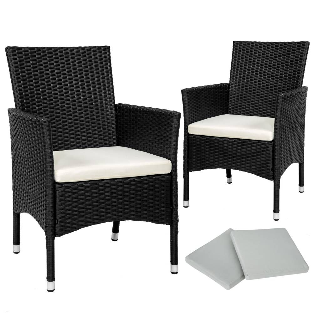 2 rattansessel inkl 4 sitzbez ge antikbraun garden and. Black Bedroom Furniture Sets. Home Design Ideas