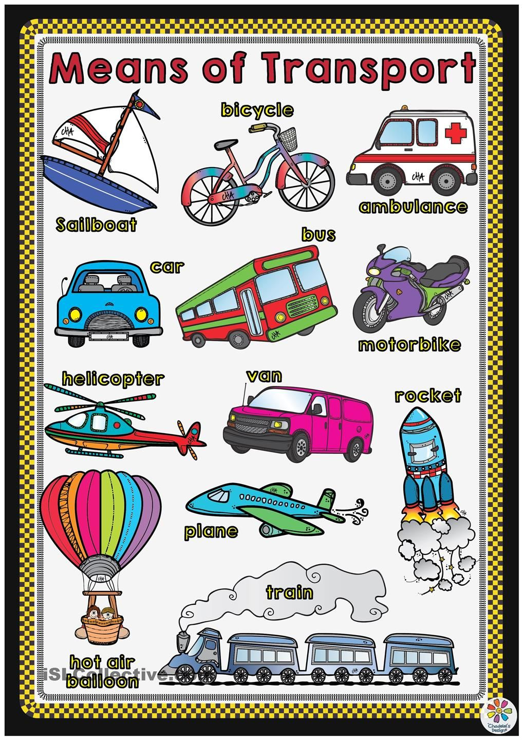 means of transport poster english language and more pinterest english worksheets and life. Black Bedroom Furniture Sets. Home Design Ideas