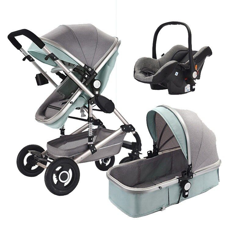Baby Stroller 3 In 1 Pram with Car Seat Travel System Baby