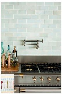 Subway Sea Glass Kitchen Tiles Kitchen Backsplash Blue Subway Tile