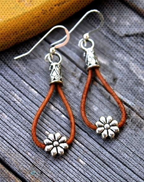 Cowgirl Daisy Earrings - Ever Designs Jewelry