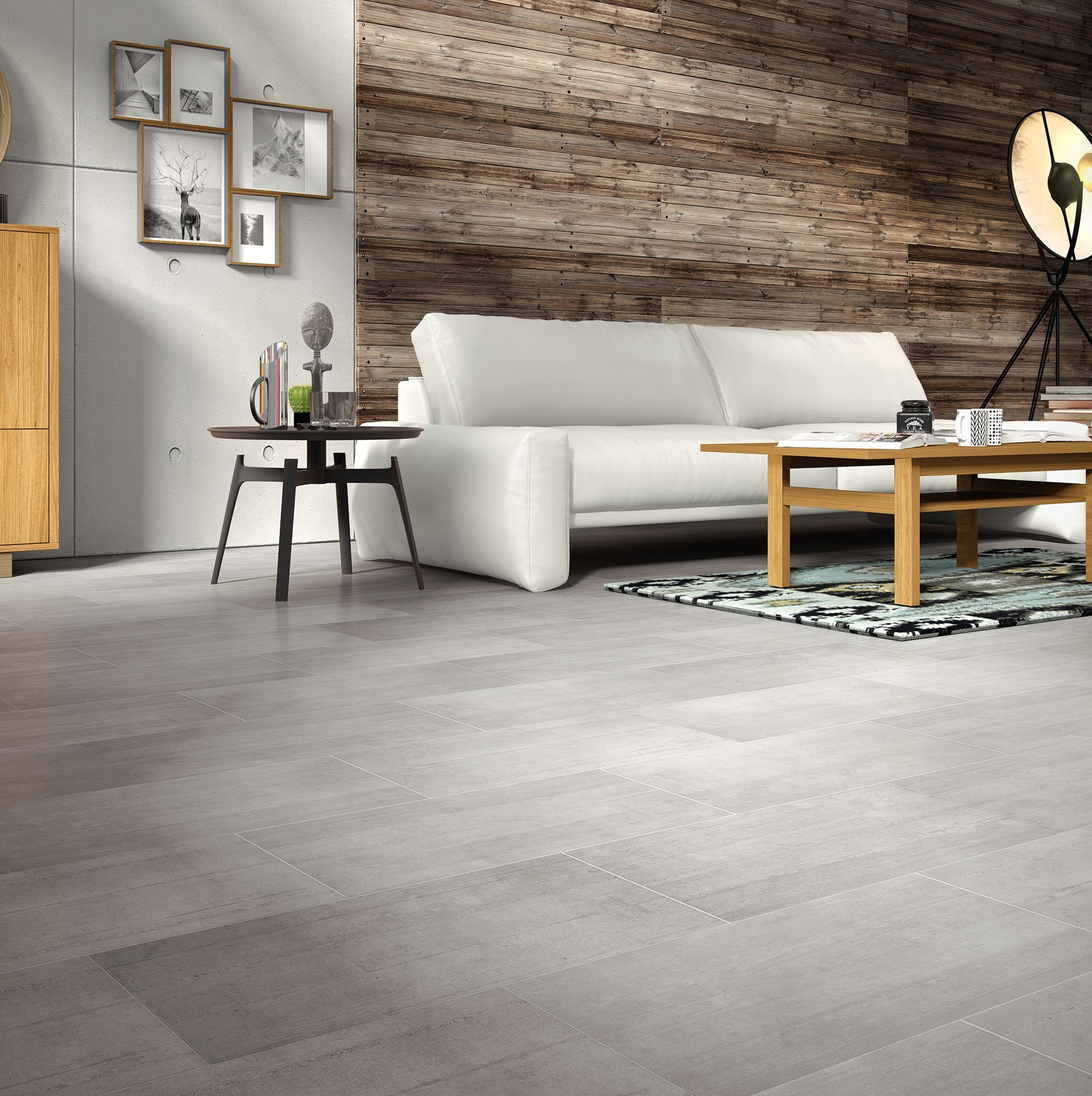 Leggiero grey concrete effect laminate flooring m for Grey bathroom laminate flooring