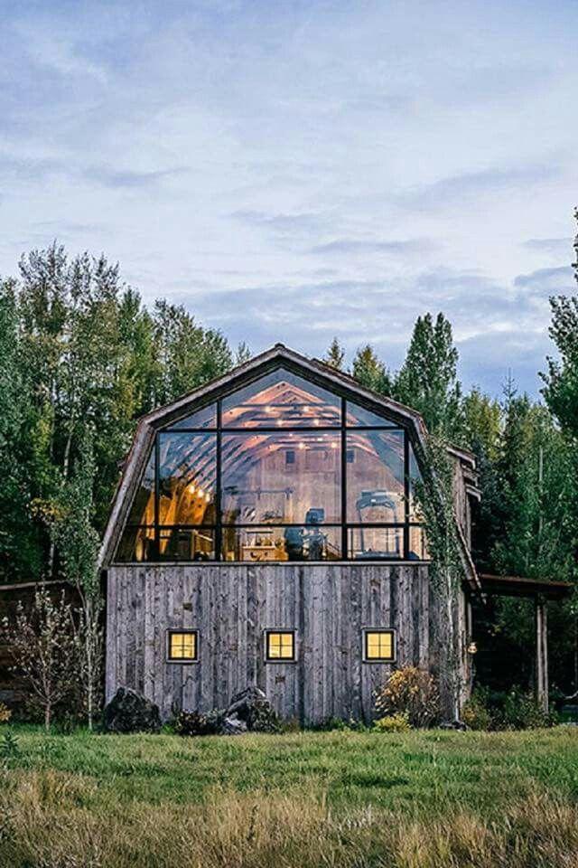 Barn or a house Home ideas Pinterest DIY, Lumières et Chalet