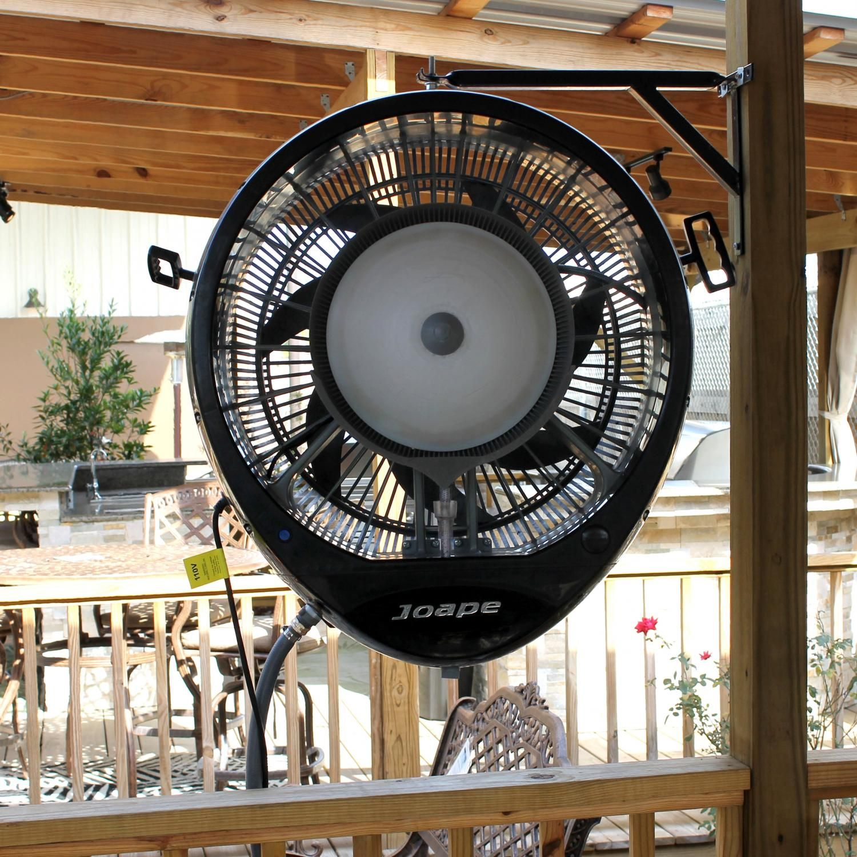 fans indoor outdoor durafan oscillating wall pin mount black for patios non patio fan