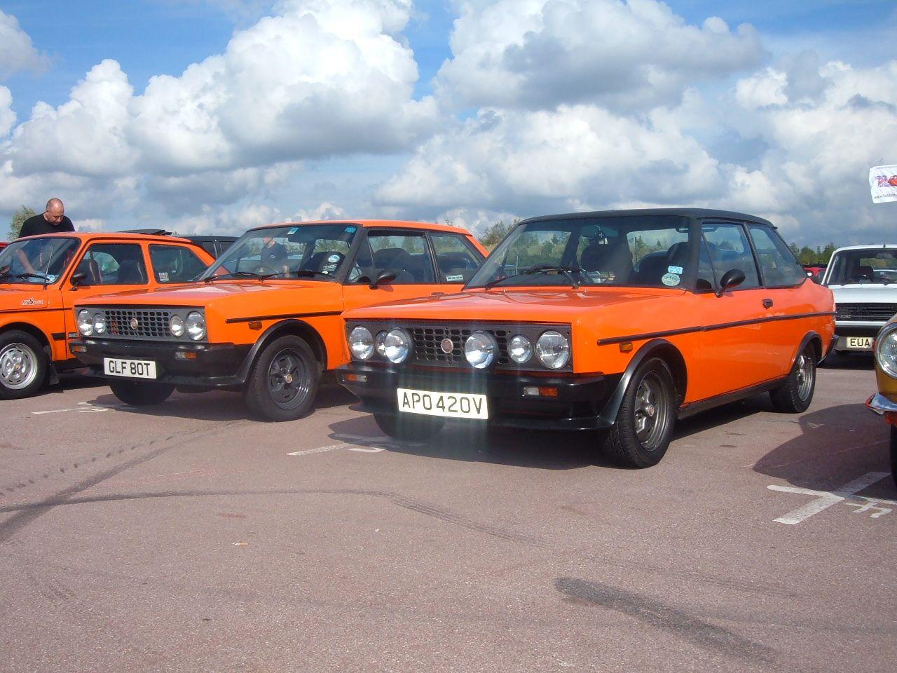 Arancio Racing Orange Trio Fiat Race Cars Vintage Racing
