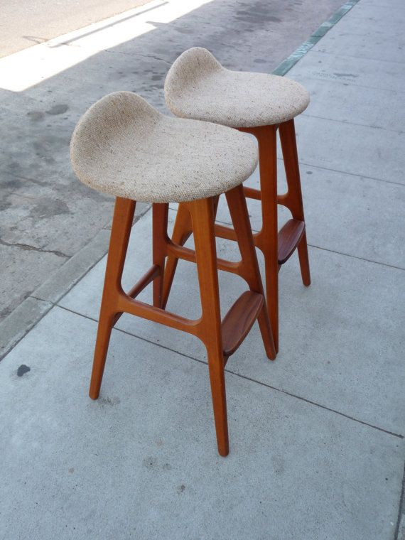 pair of erik buck o d mobler bar stools mid by xcapevintage 1295