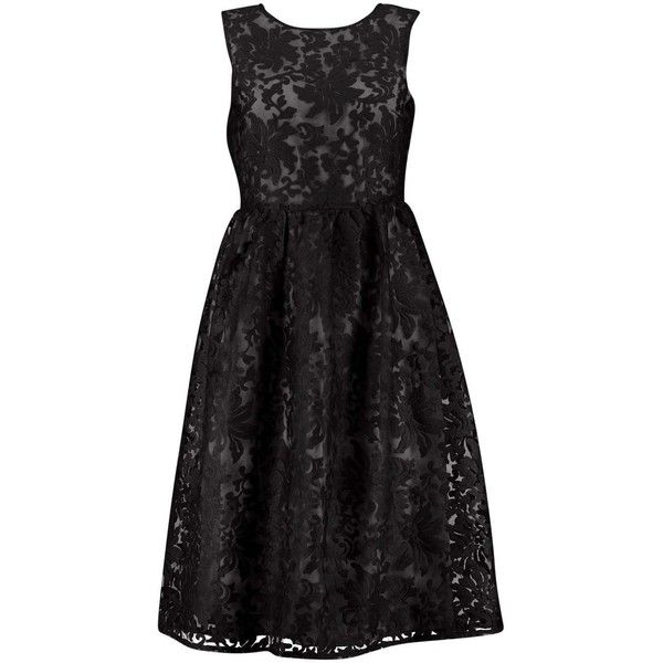 b224d9e9f4d1 Boohoo Boutique Aria Embroidered Organza Skater Dress   Boohoo ($31) ❤  liked on Polyvore featuring dresses, skater dress, broderie dress,  embroidery ...