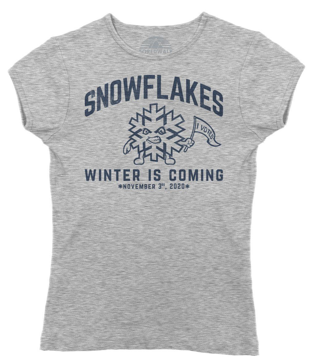 Women S Winter Is Coming Snowflake T Shirt Liberal Resist Shirt