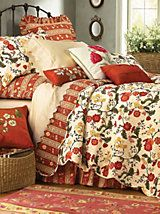 Red Carlisle Quilt by Williamsburg® | LinenSource | Beautiful ... : linensource quilts - Adamdwight.com