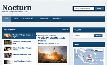 Nocturn is a clean, easy to read architecture that is primarily focused on the content. With this theme you could turn your website into a professional & attractive newspaper or magazine site very easily. You can write and organize your news and stories into categories, all through the user-friendly and convenient WordPress interface.