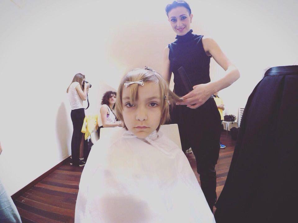 #GiusyDonghia on #shooting #KultoKids  #parrucchieri #accademiaparrucchieri #salone #bellezza #taglio #colore #acconciature #hair #hairdesign #wella #tendenze