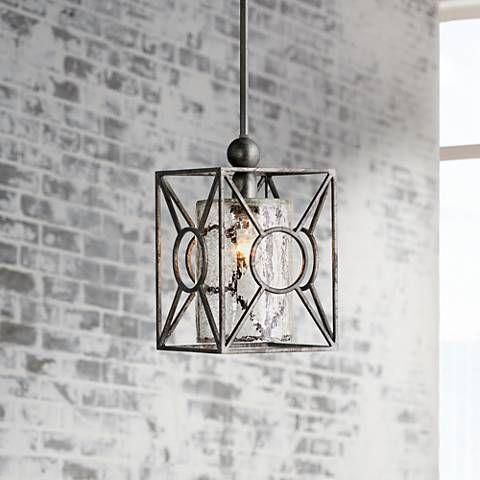 arbela one light mini pendant by uttermost lighting 2c658 lamps plus - Uttermost Lights