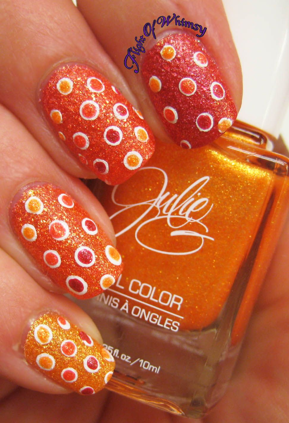 Textured Dotted Ombre with Julie G Frosted Gumdrops