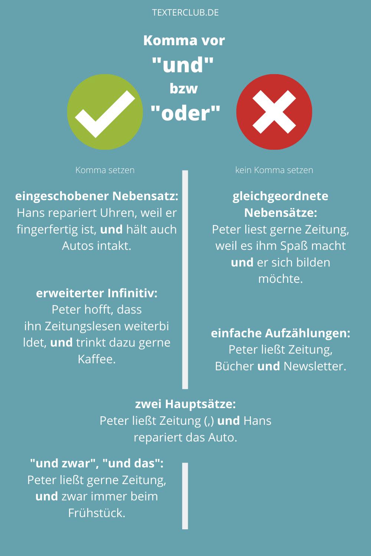 Typische Rechtschreibfehler Komma Vor Oder Komma Vor Und In 2020 Deutsche Sprache Lernen Lernen Tipps Schule Fremdworter