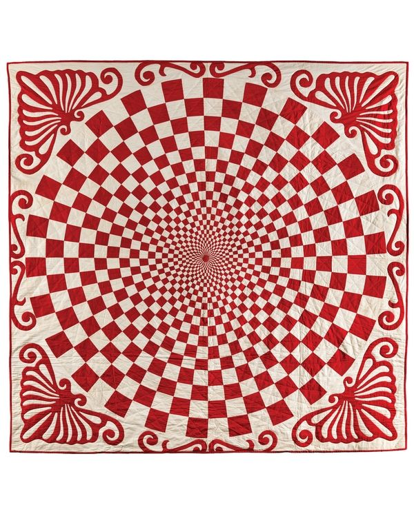 33575cde5d quilt - colcha pura arte. Red   White Quilts - Infinite Variety Foto  © by  Gavin Ashworth
