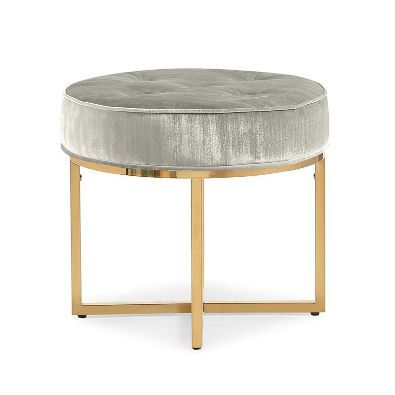 Remigio Tufted Ottoman Ottoman Furniture Velvet Stool