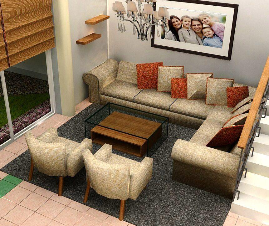 Sala en l renders pinterest comedores sala comedor for Salas espacios pequenos