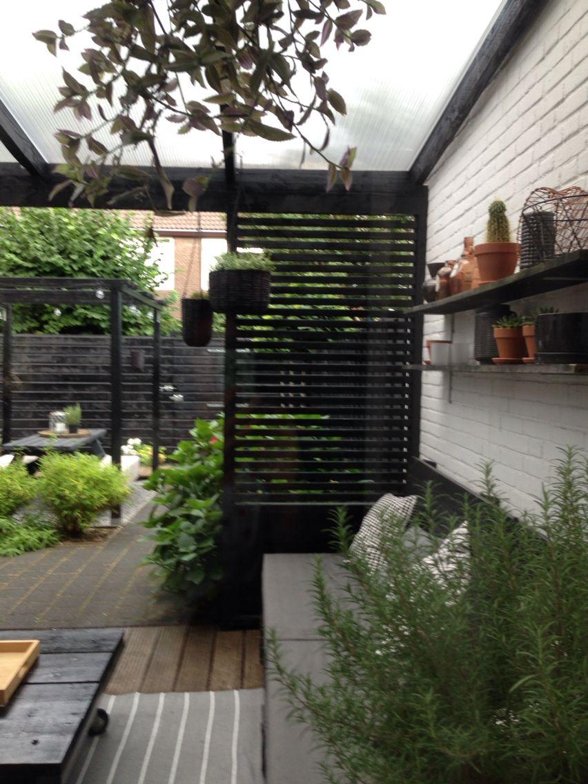 Garden#tuin#zwartwit#styling#veranda#overkapping