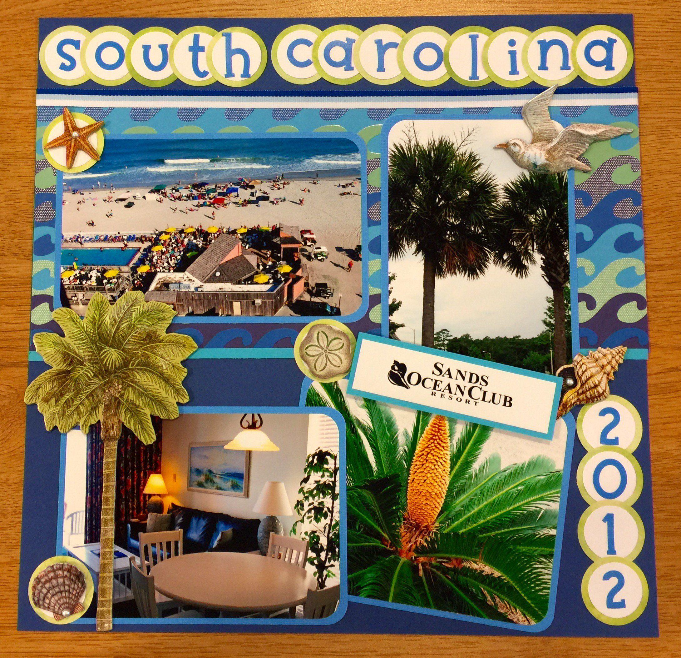 Myrtle Beach Vacation scrapbook, Myrtle