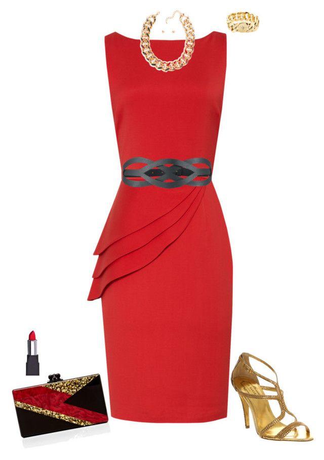 f277e52f8e4672 Fabulous red in 2019 | My Polyvore creations | Fashion, Bridesmaid ...