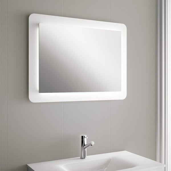 Espejo de pared con luna cristal pulido de 5mm con - Banos con paredes de cristal ...