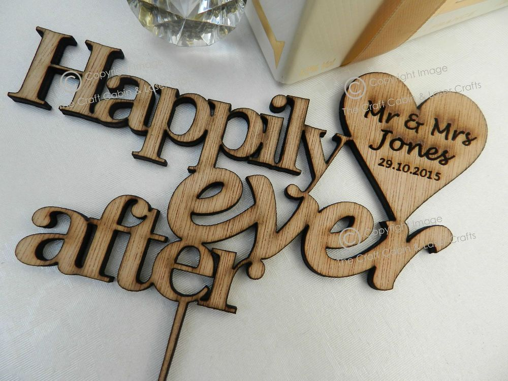 Stunning Personalised Wooden Wedding Cake Topper Quotes Mr Mrs In Home