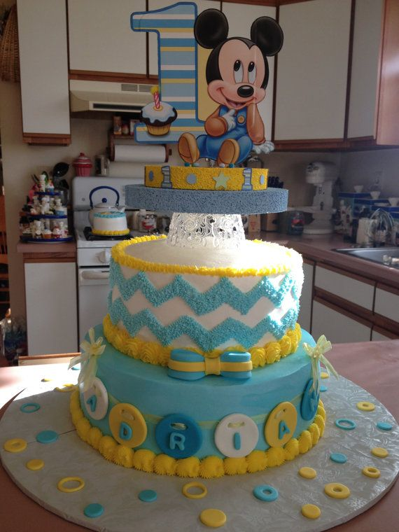 Baby Mickey 1st First One Birthday Cake Topper oe Ceterpiece