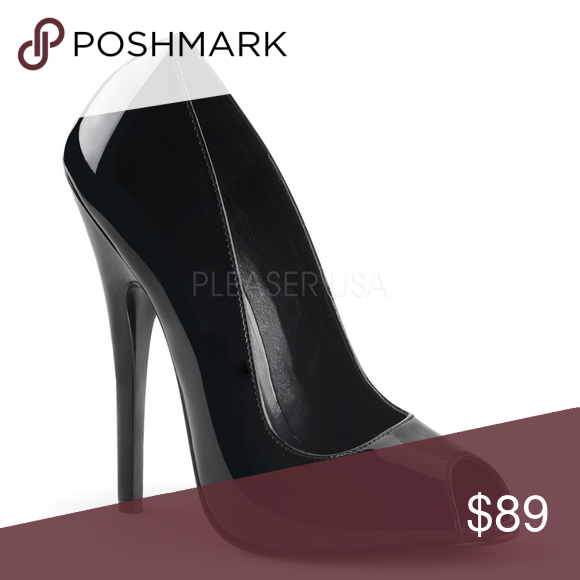 d06e59bf74 Peep Toe Pin Up Shoes High Heel Stilettos Black Peep Toe Pin Up Shoes High  Heel Stilettos Black 6