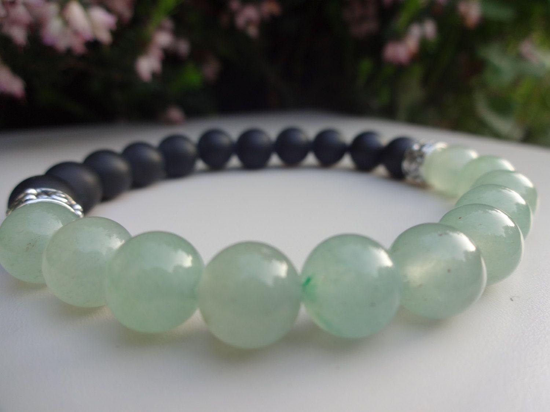 Fertility Goddess Bracelet Green Aventurine Gemstone Lava Stone Bracelet Crystal jewelry Gemstones Handmade Beaded Bracelets