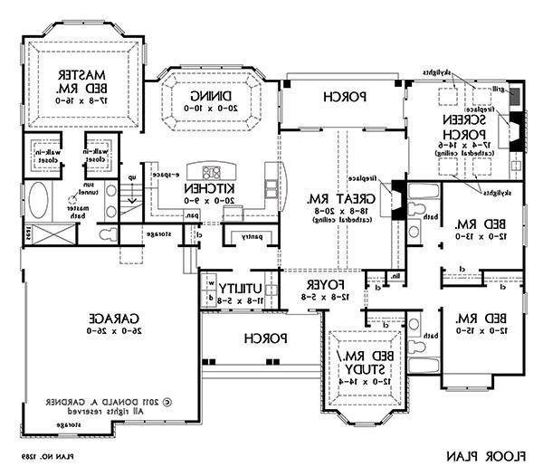 First Floor Plan of The Peyton - House Plan Number 1289 | Adoption ...