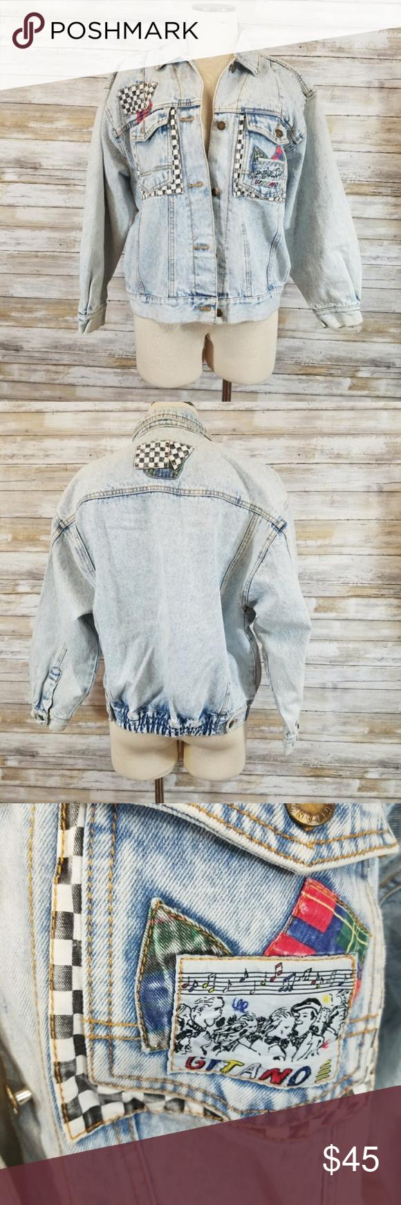 Vintage Gitano Jean Jacket W Checker Patches Amazingly Rad Vintage Gitano Denim Jacket With Classic Checkere Vintage Jean Jacket Vintage Jacket Clothes Design [ 1740 x 580 Pixel ]