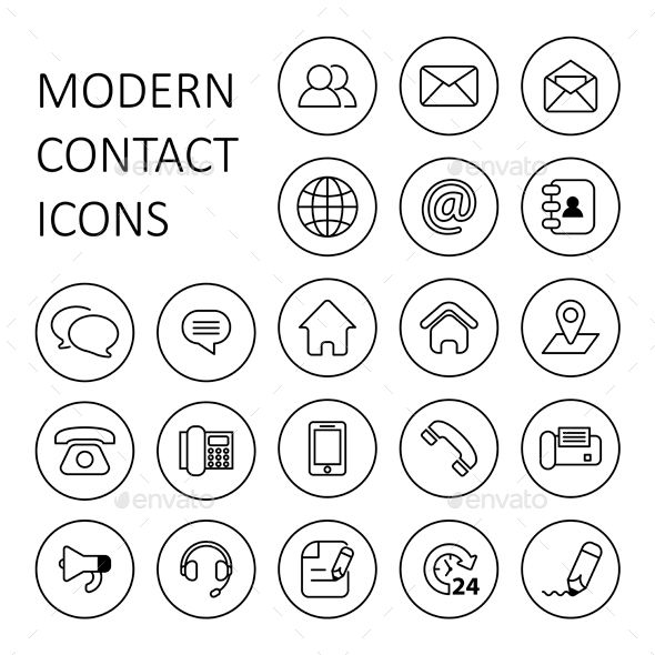 contact us icons - Icons For Resume