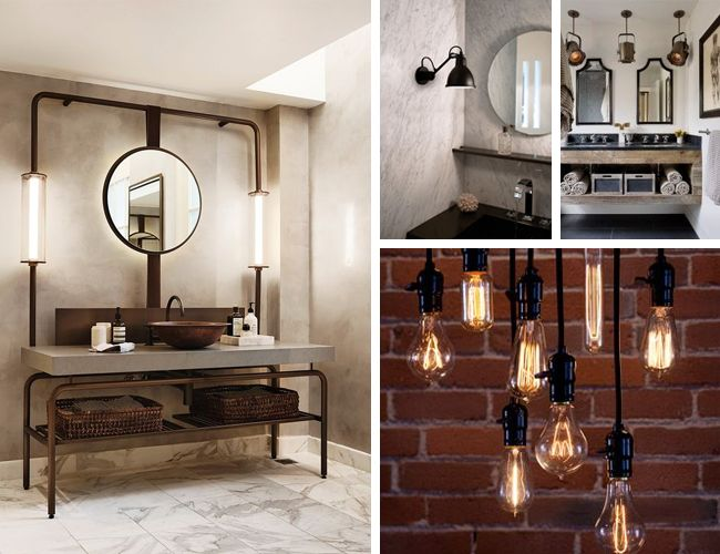 salle de bain industrielle inspiration ce que j 39 aime deco salon bathroom et ikea hackers. Black Bedroom Furniture Sets. Home Design Ideas