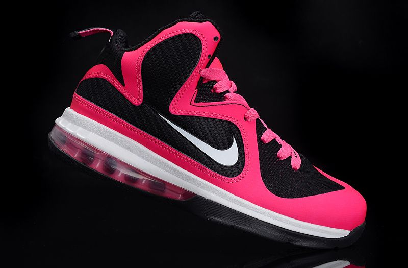 low priced 96cfd 9558c Buy Womens Lebrons Pink Lebron 9 Womens Laser Pink Metallic Silver Black