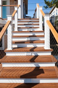 Best Stairs Railing Beach House Exterior Exterior Stairs 400 x 300