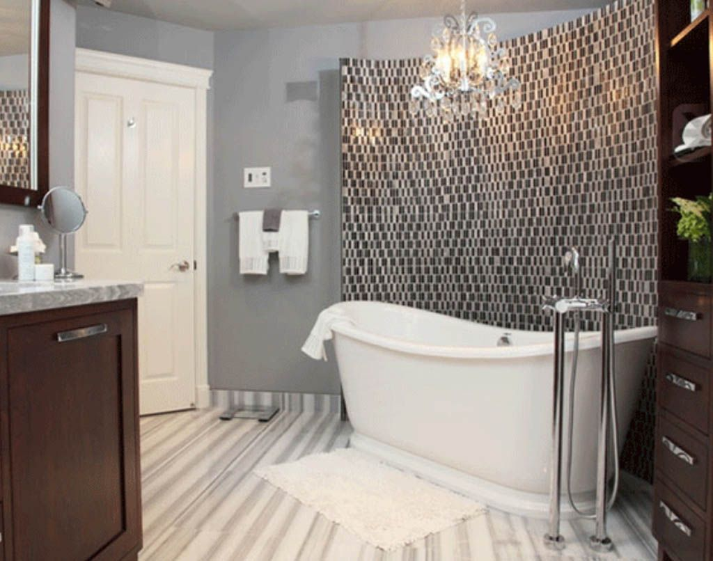 wall you tiles mania the this backsplash ideas is counter to by mirror extra neatly for mirrored inspire bathroom design framed long and