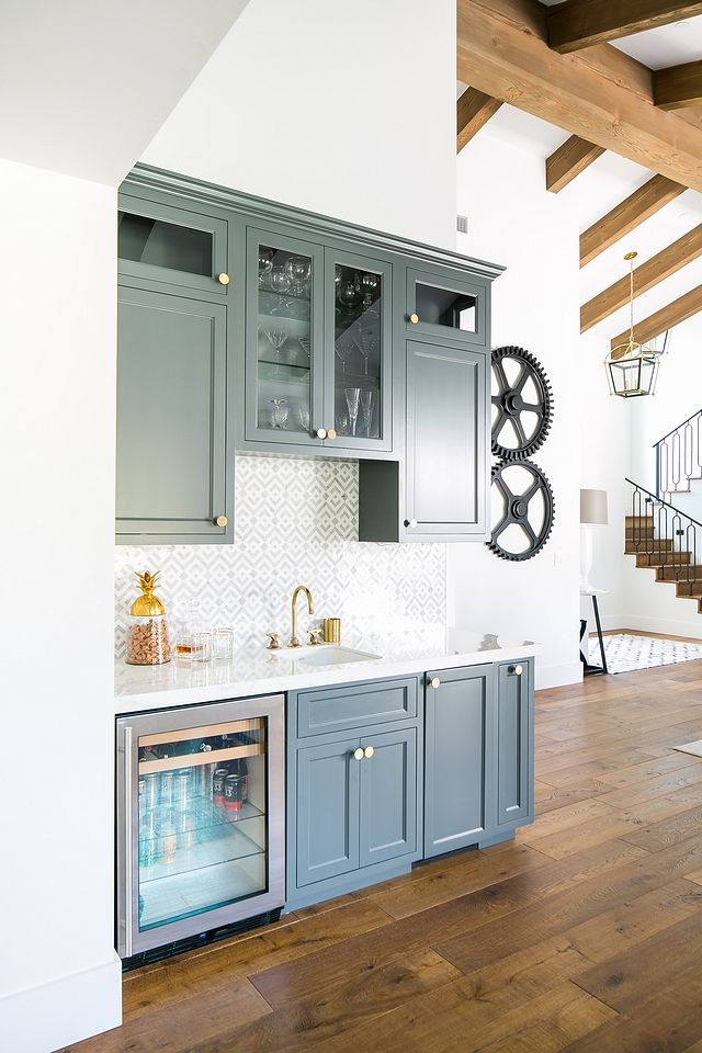 Best Sherwin Williams Grizzle Gray The Wet Bar Features Custom 400 x 300