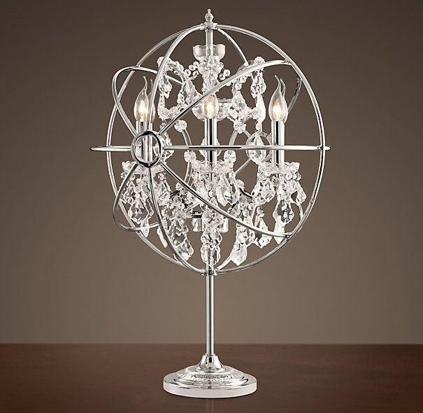 Restoration Hardware   Foucaultu0027s Orb Crystal Table Lamp Polished Nickel  $1195 The Gyroscope Created By 19th