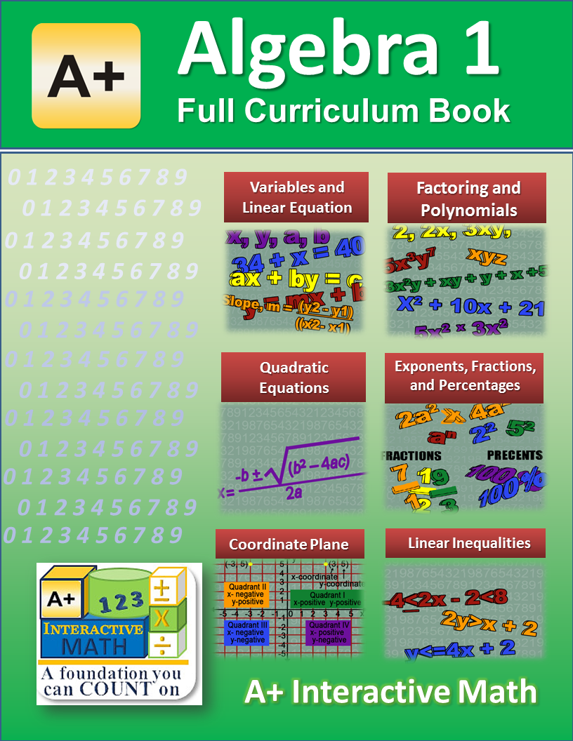 This is a full curriculum book that covers all the math