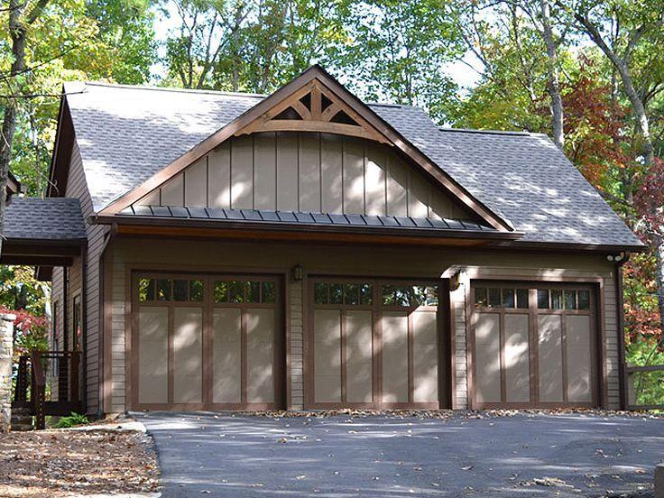3 Car Garage Photo 053g 0029 Garage Door Design Three Car Garage Plans Craftsman Exterior