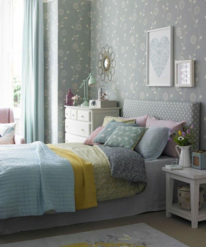 1001 ideas de decoraci n con cuadros para dormitorios papel pintado pinturas para - Cuadros juveniles modernos ...