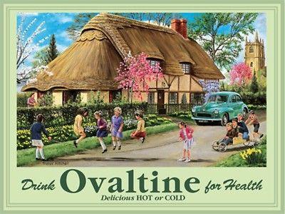 Ovaltine Bedtime Drink Metal Steel Sign Plaque