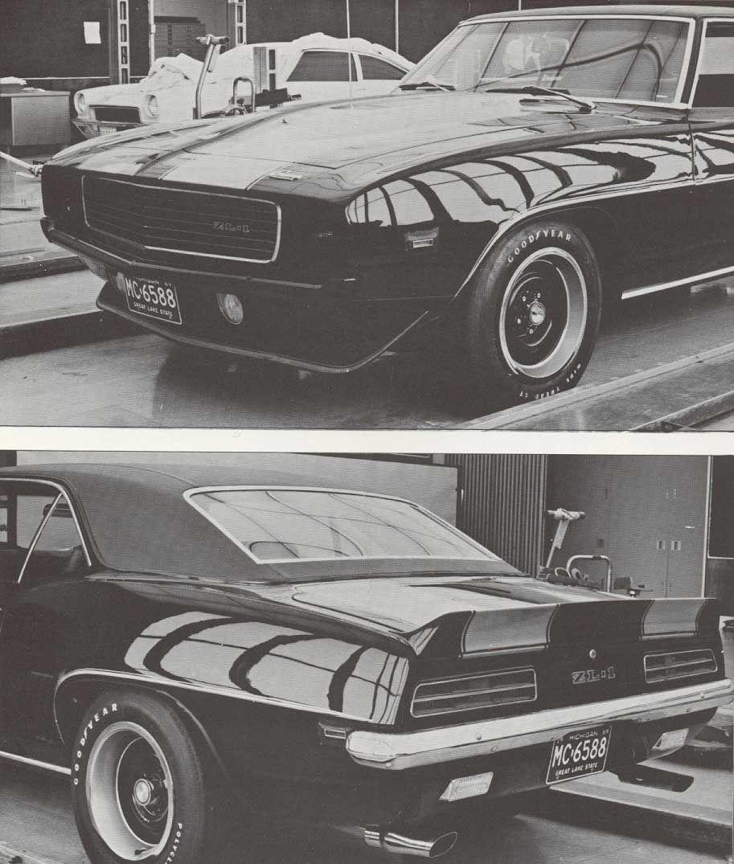 1969 Camaro Zl1 Copo 9567 Prototype Camaro Vintage Muscle Cars