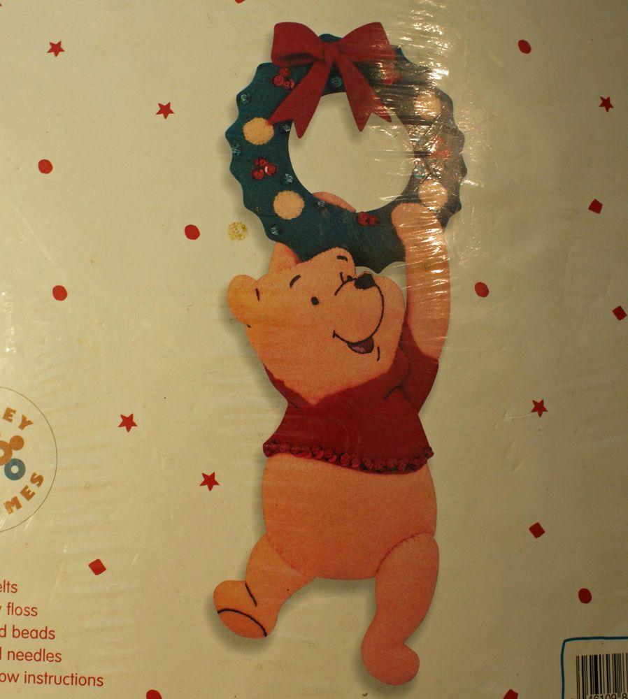 Winnie the Pooh Kit Applique Door Knob Cover Disney Bucilla 84170 ...