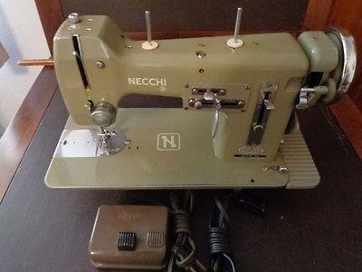 VINTAGE NECCHI BU SEWING MACHINE GREEN FRESH TUNEUP Interesting Sewing Machine Tune Up Near Me