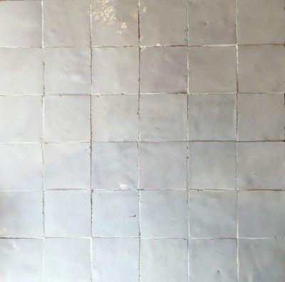 Blanc de f s 5x5 cuisine pinterest f s zellige et for Carrelage 5x5 bleu